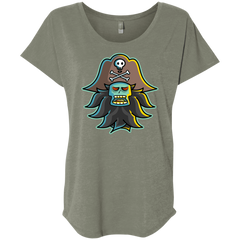 T-Shirts Venetian Grey / X-Small Ghost Pirate LeChuck Triblend Dolman Sleeve