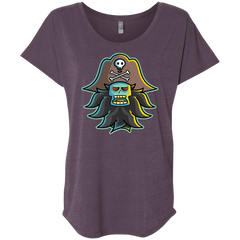 T-Shirts Vintage Purple / X-Small Ghost Pirate LeChuck Triblend Dolman Sleeve