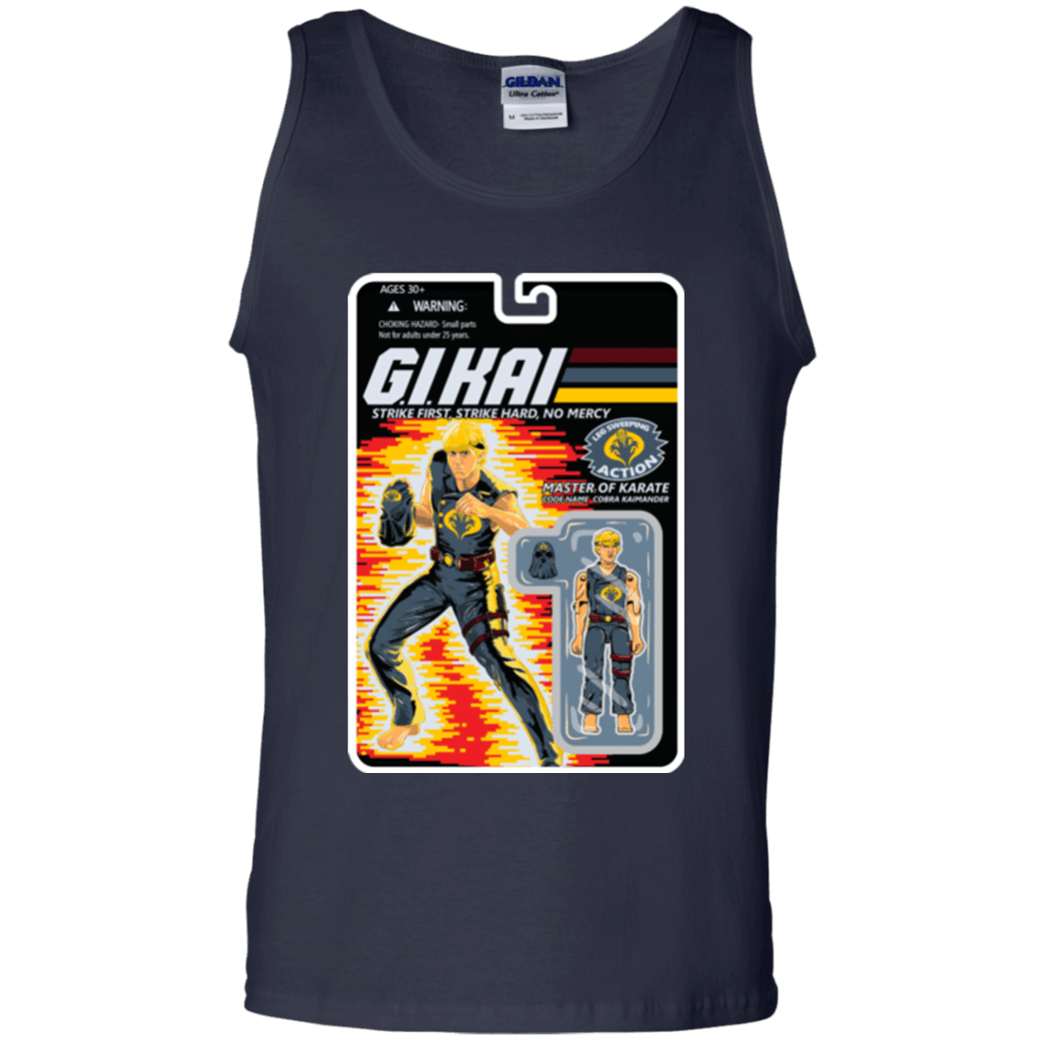 T-Shirts Navy / S GI KAI Men's Tank Top