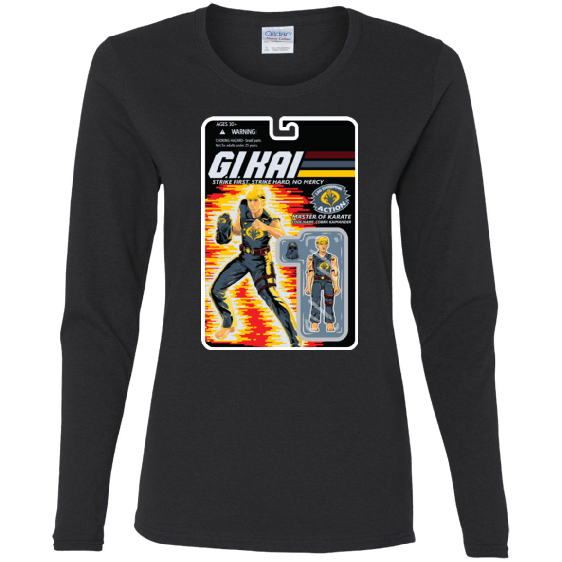 T-Shirts Black / S GI KAI Women's Long Sleeve T-Shirt