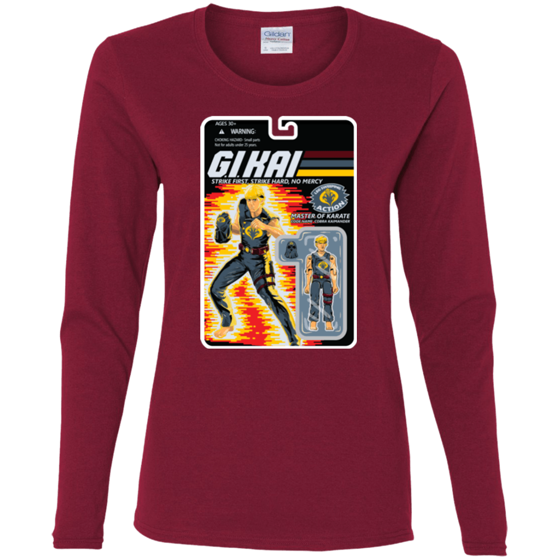T-Shirts Cardinal / S GI KAI Women's Long Sleeve T-Shirt