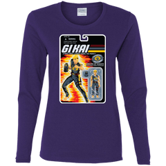 T-Shirts Purple / S GI KAI Women's Long Sleeve T-Shirt