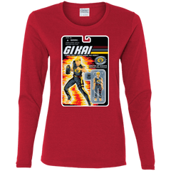 T-Shirts Red / S GI KAI Women's Long Sleeve T-Shirt