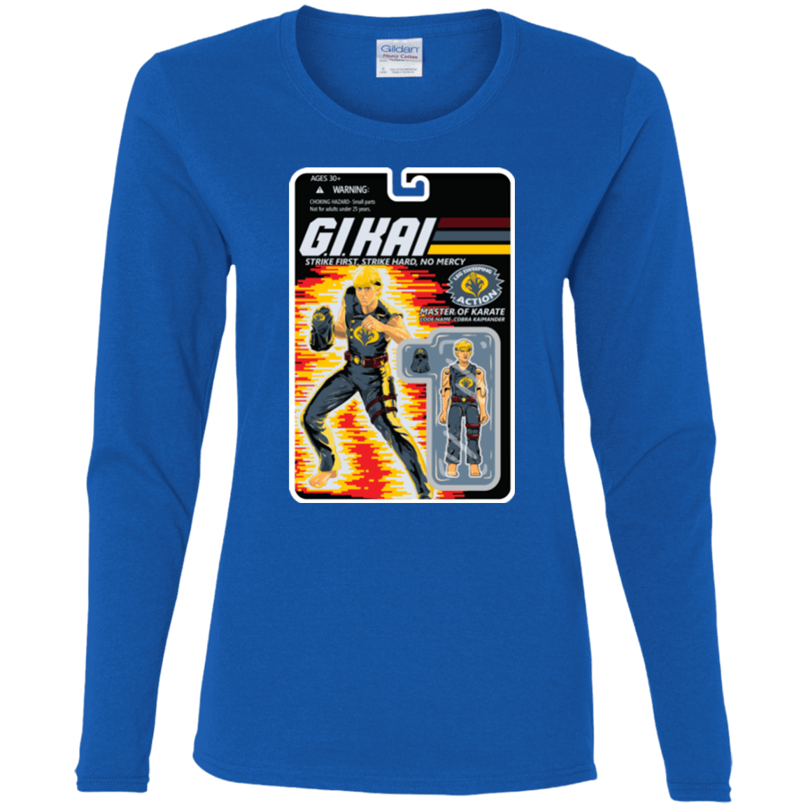 T-Shirts Royal / S GI KAI Women's Long Sleeve T-Shirt
