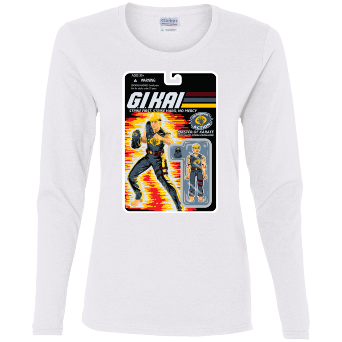 T-Shirts White / S GI KAI Women's Long Sleeve T-Shirt