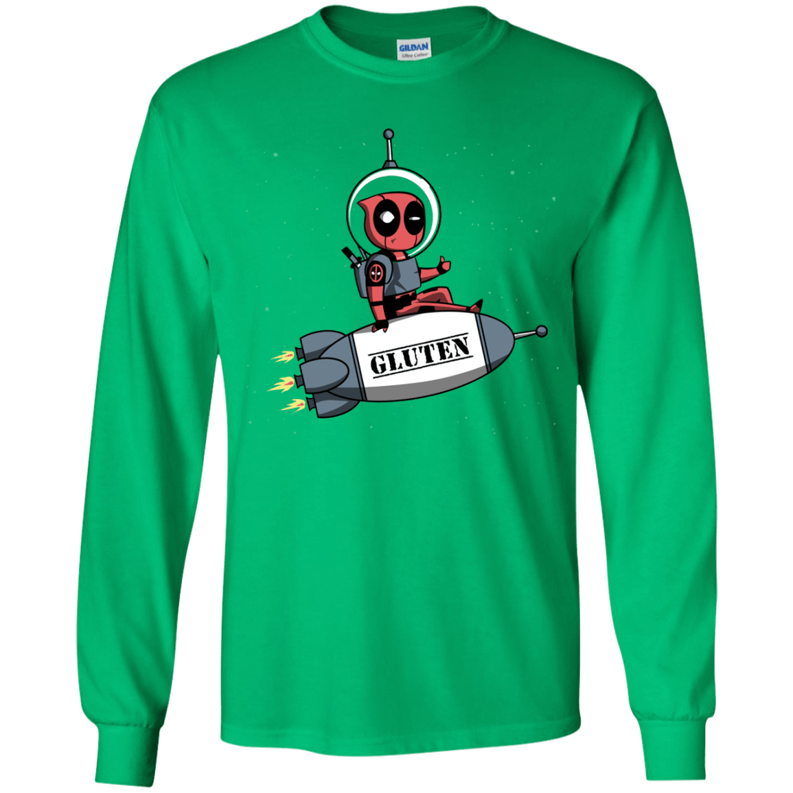 T-Shirts Irish Green / YS Gluten No More Youth Long Sleeve T-Shirt
