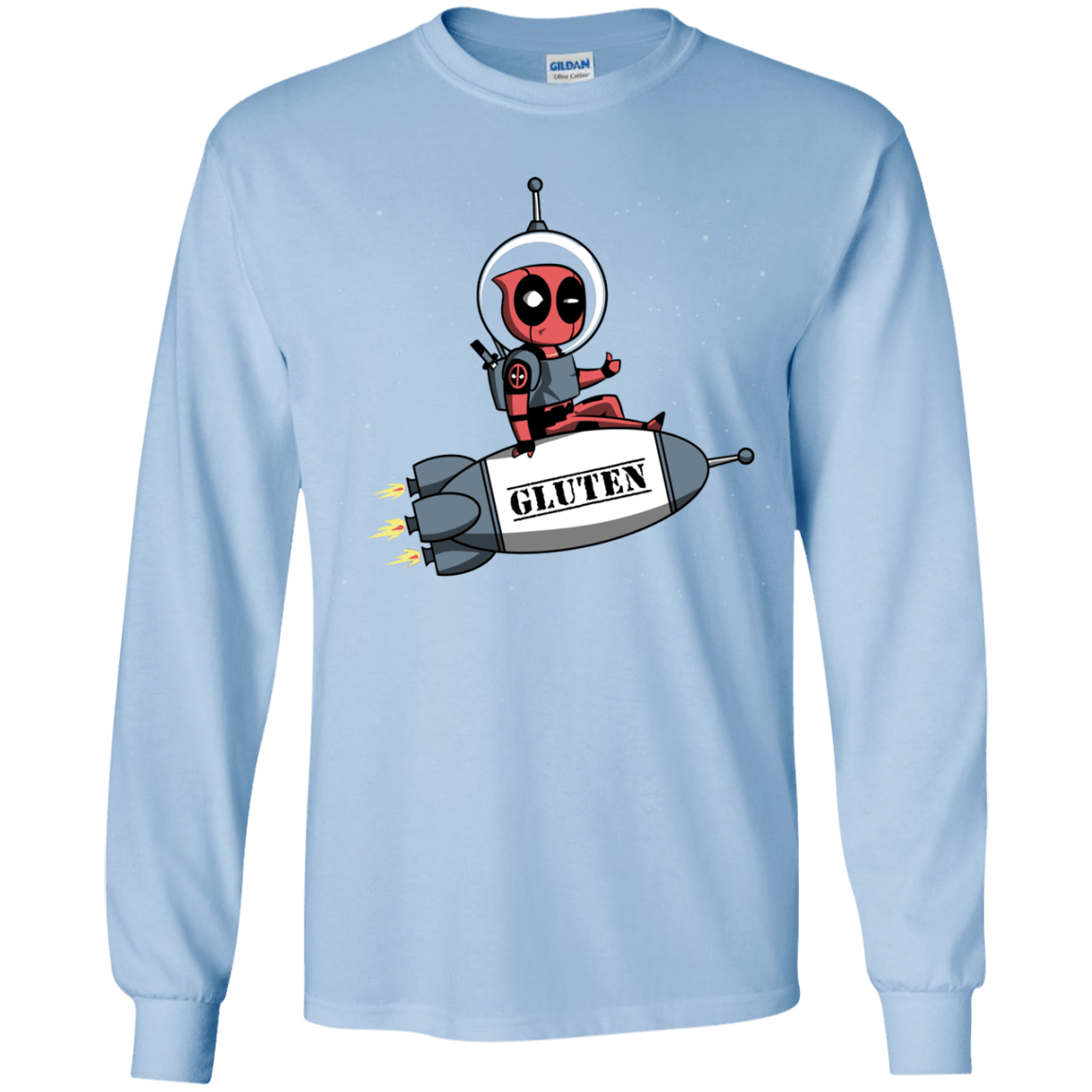 T-Shirts Light Blue / YS Gluten No More Youth Long Sleeve T-Shirt