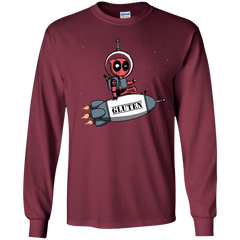T-Shirts Maroon / YS Gluten No More Youth Long Sleeve T-Shirt
