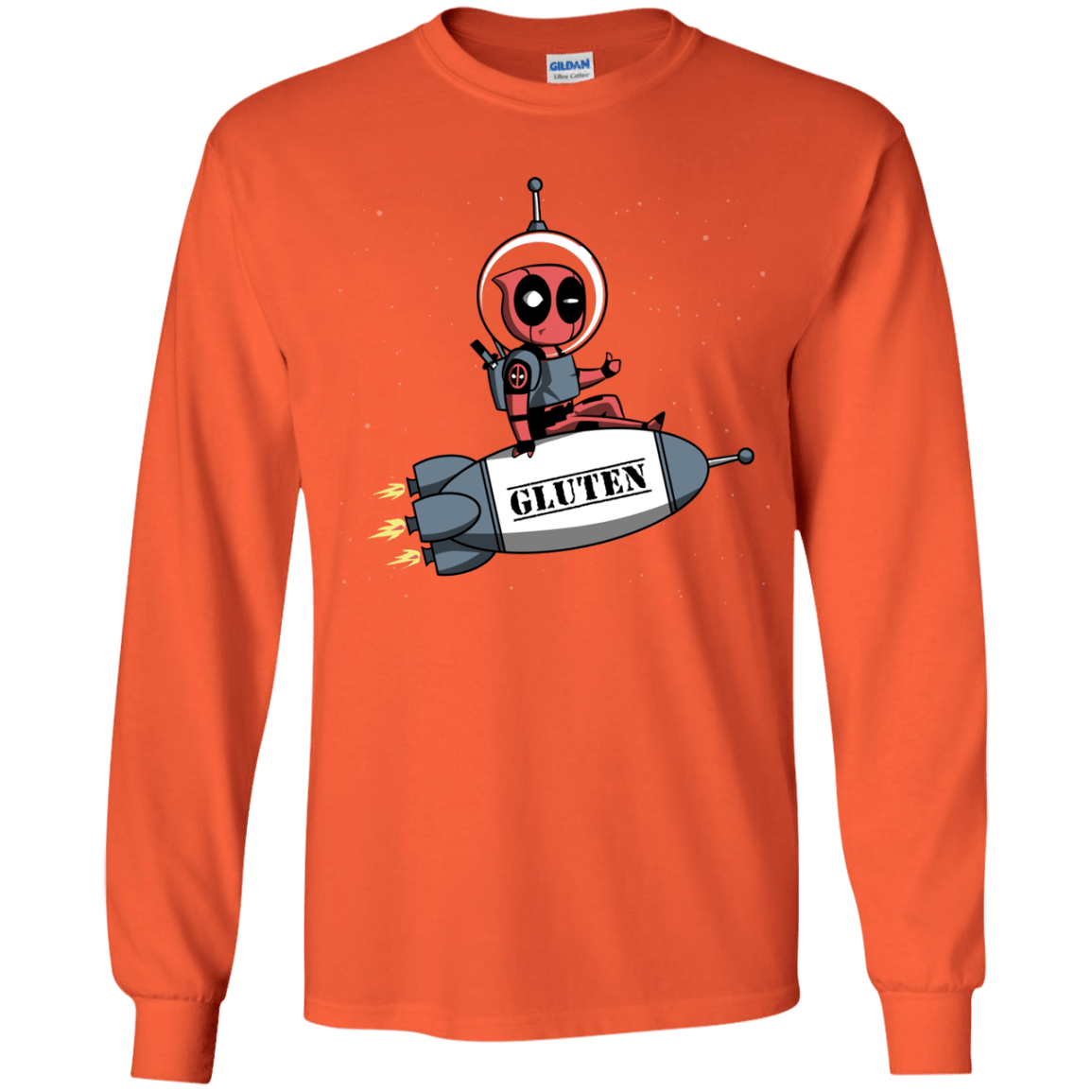 T-Shirts Orange / YS Gluten No More Youth Long Sleeve T-Shirt