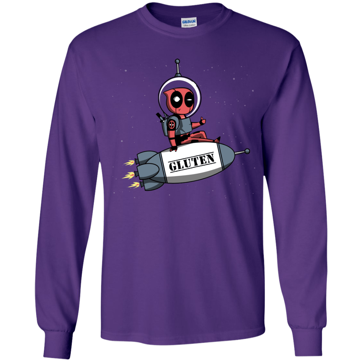 T-Shirts Purple / YS Gluten No More Youth Long Sleeve T-Shirt