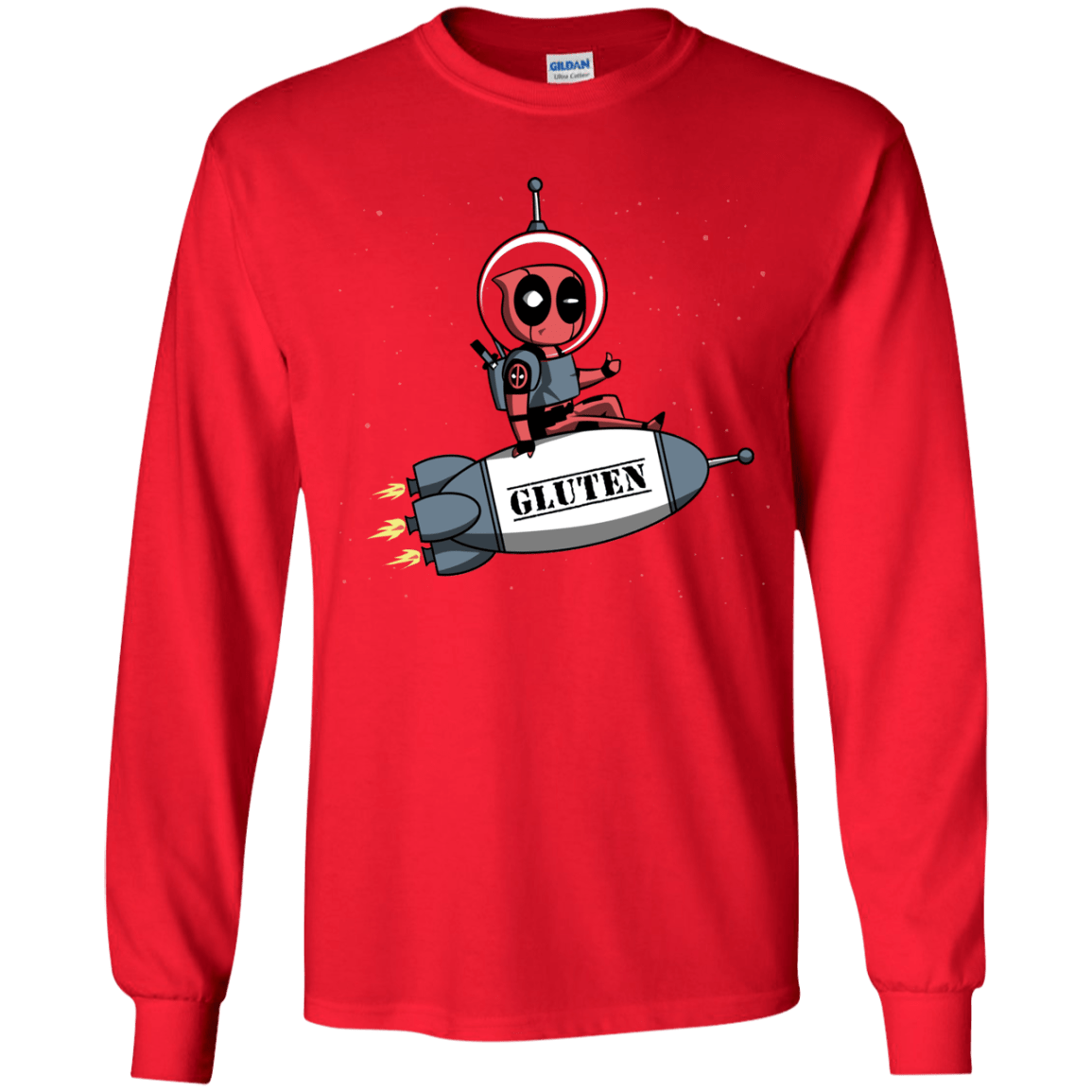 T-Shirts Red / YS Gluten No More Youth Long Sleeve T-Shirt
