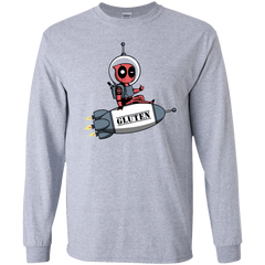 T-Shirts Sport Grey / YS Gluten No More Youth Long Sleeve T-Shirt
