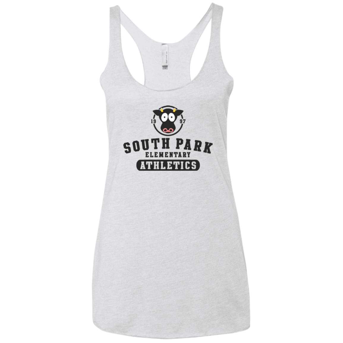 T-Shirts Heather White / X-Small Go Cows Women's Triblend Racerback Tank