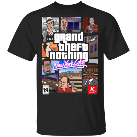 T-Shirts Black / S Grand Theft Nothing T-Shirt