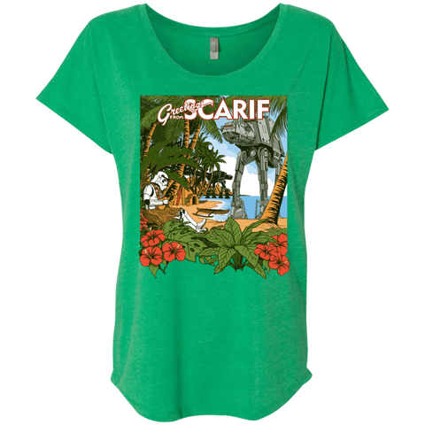 T-Shirts Envy / X-Small Greetings from Scarif Triblend Dolman Sleeve
