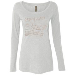 T-Shirts Heather White / Small Groot Lady Women's Triblend Long Sleeve Shirt