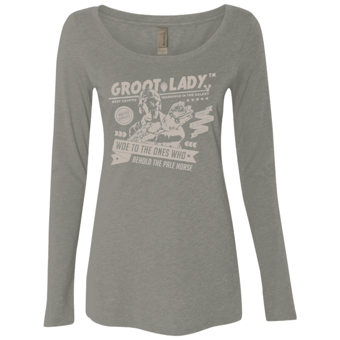 T-Shirts Venetian Grey / Small Groot Lady Women's Triblend Long Sleeve Shirt