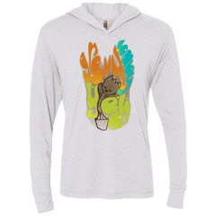 T-Shirts Heather White / X-Small Groovy Baby Triblend Long Sleeve Hoodie Tee