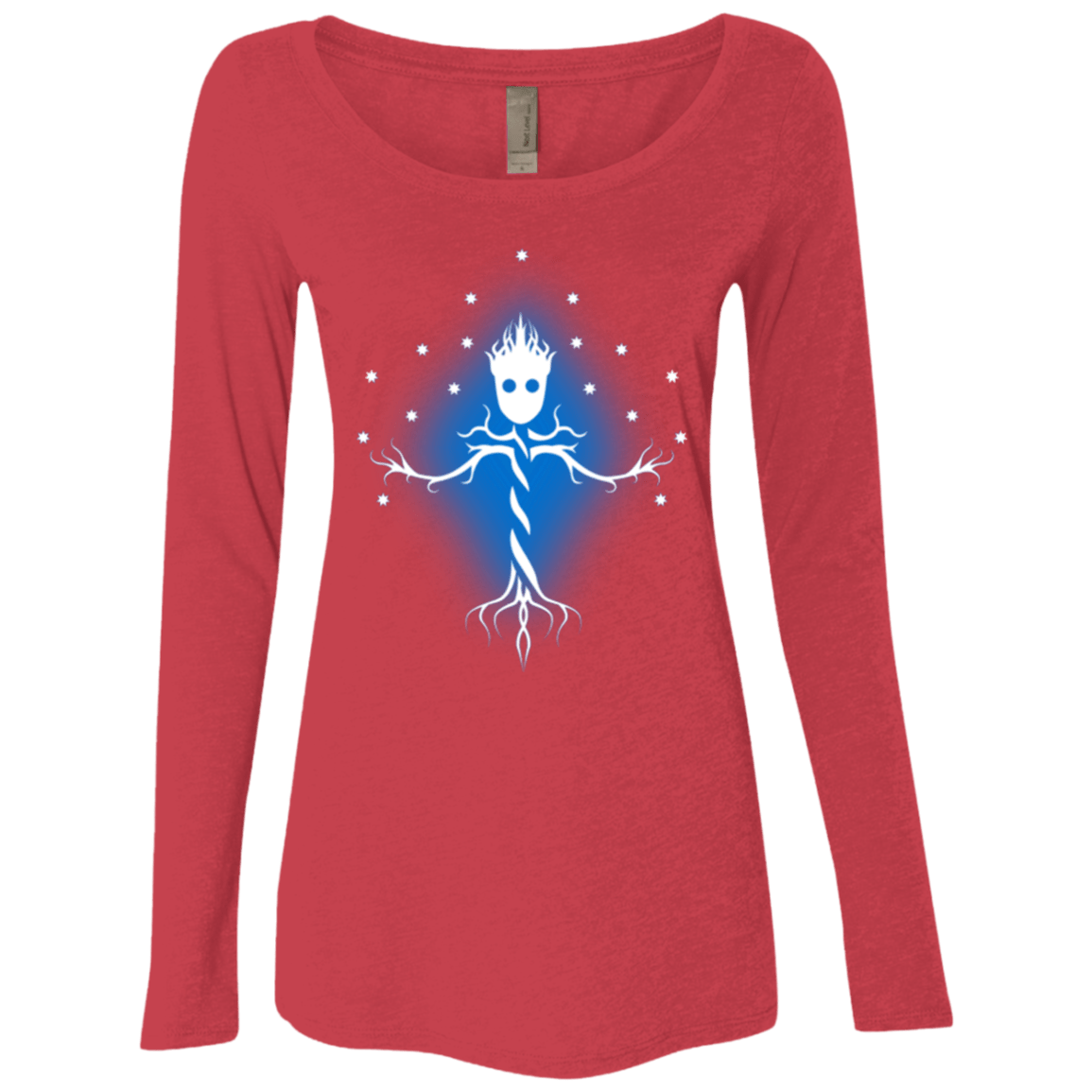 T-Shirts Vintage Red / Small Guardian Tree of The Galaxy Women's Triblend Long Sleeve Shirt