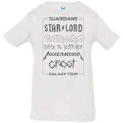 T-Shirts White / 6 Months Guardians Galaxy Tour Grunge Infant Premium T-Shirt