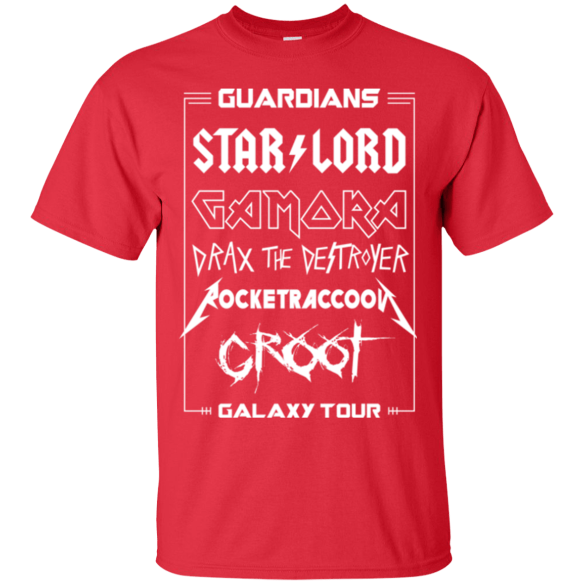 T-Shirts Red / Small Guardians Galaxy Tour T-Shirt