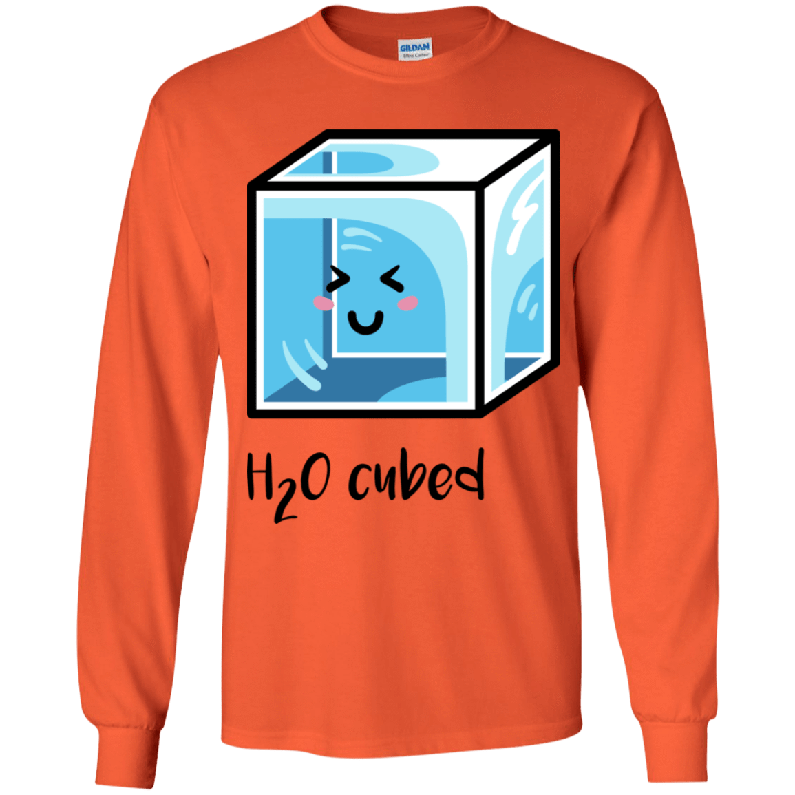 T-Shirts Orange / YS H2O Cubed Youth Long Sleeve T-Shirt