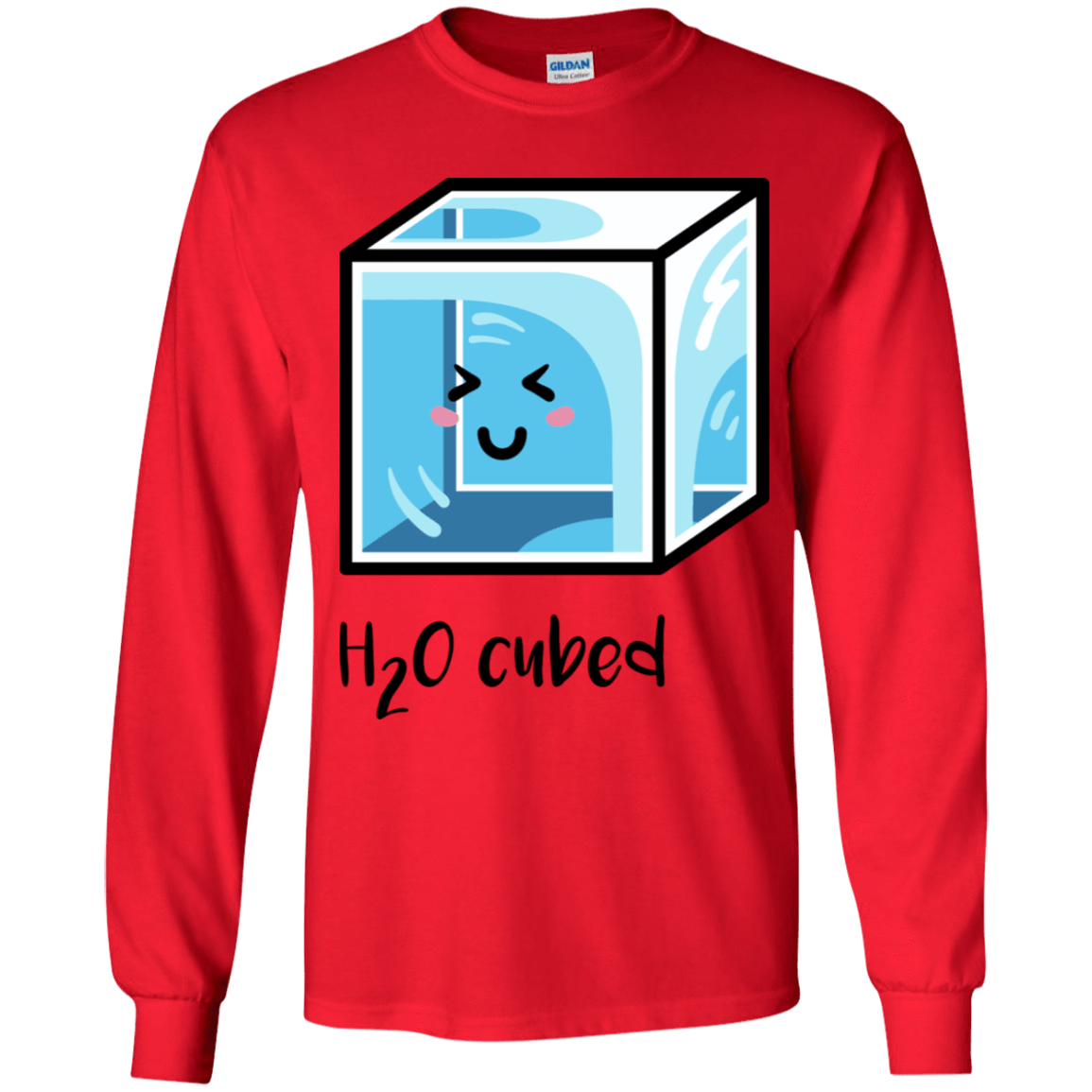 T-Shirts Red / YS H2O Cubed Youth Long Sleeve T-Shirt