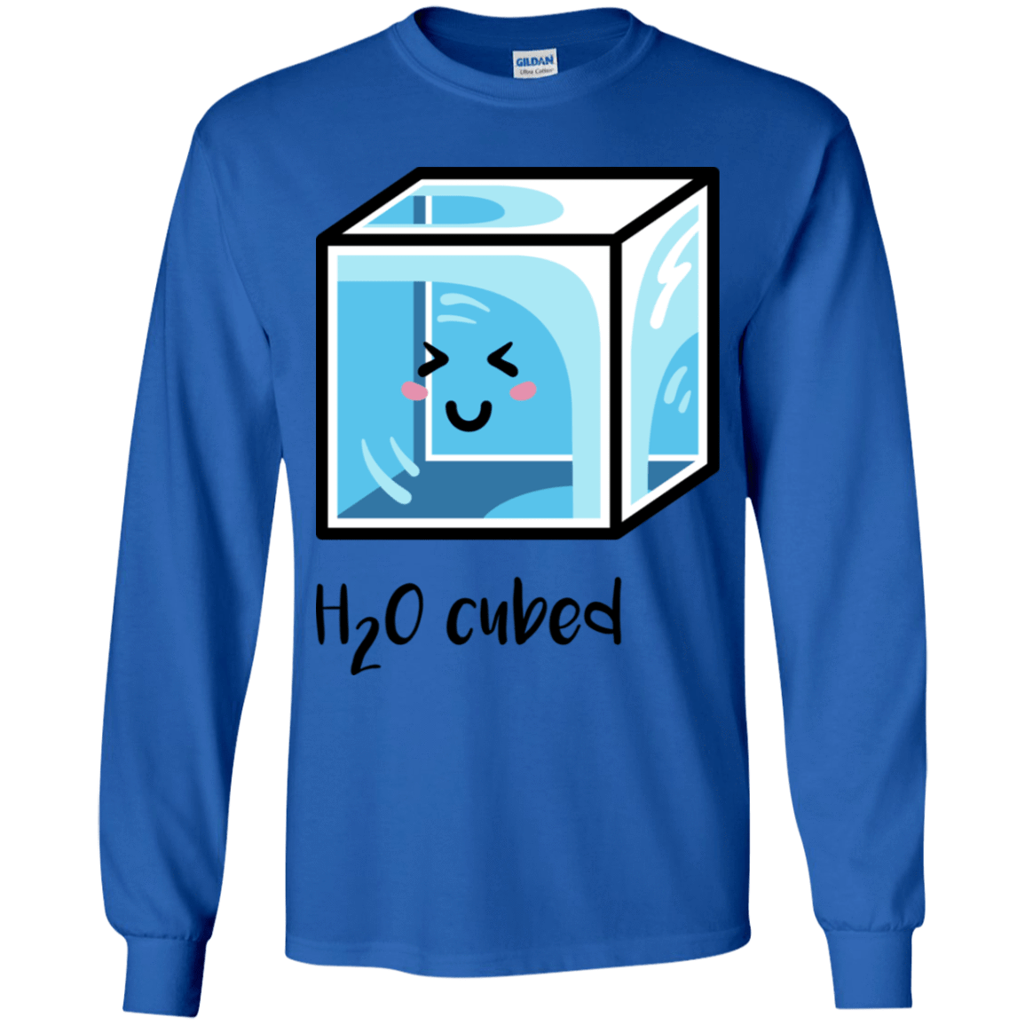 T-Shirts Royal / YS H2O Cubed Youth Long Sleeve T-Shirt