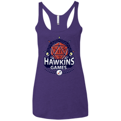 T-Shirts Purple / X-Small Hawkins Games Women's Triblend Racerback Tank