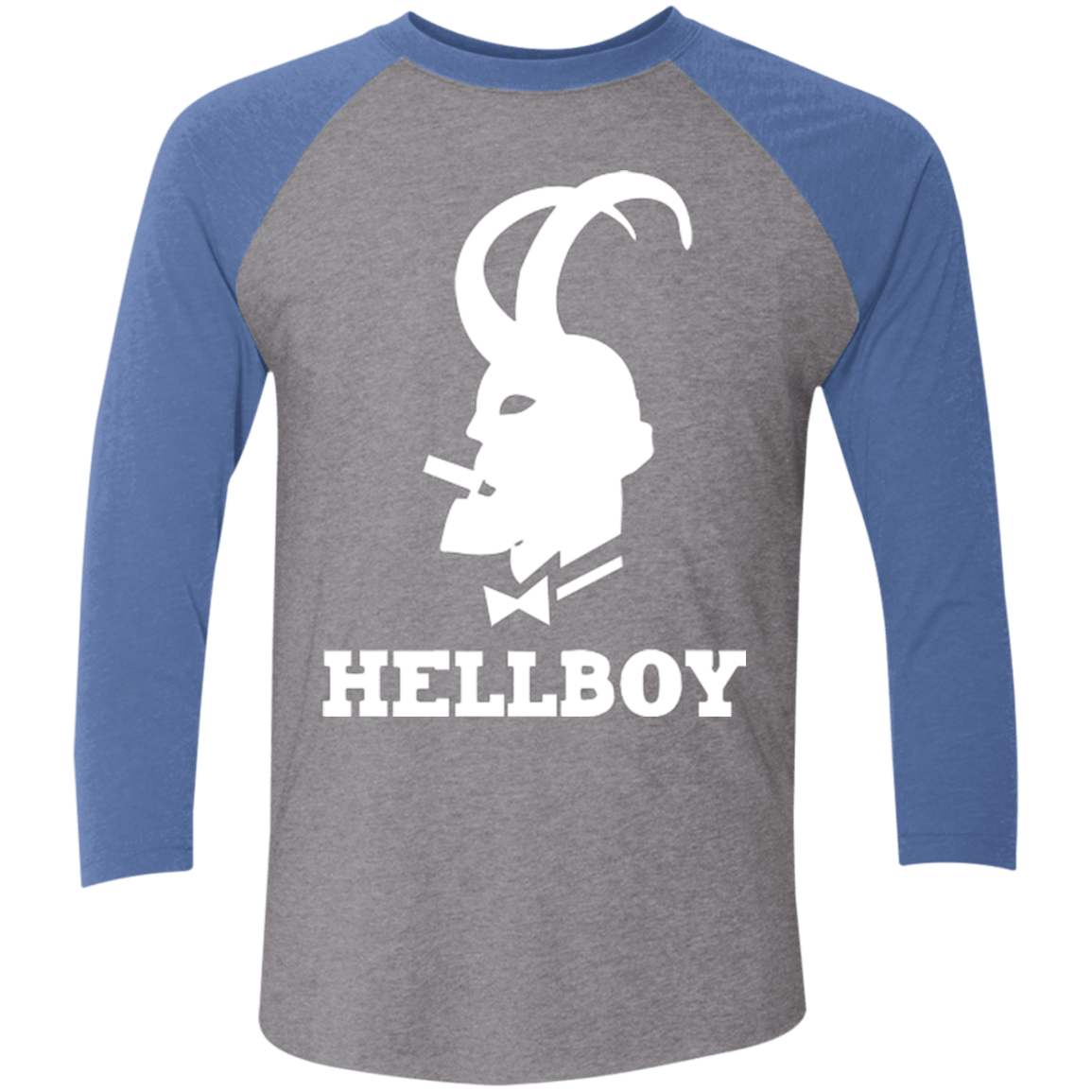 T-Shirts Premium Heather/ Vintage Royal / X-Small Hellboy Men's Triblend 3/4 Sleeve