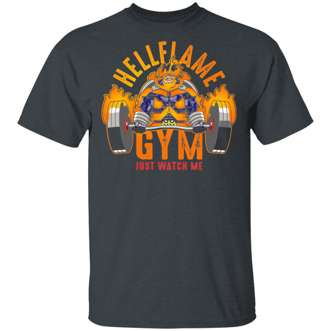 T-Shirts Dark Heather / S Hellflame Gym T-Shirt
