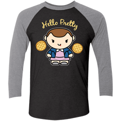 T-Shirts Vintage Black/Premium Heather / X-Small Hello Pretty Triblend 3/4 Sleeve