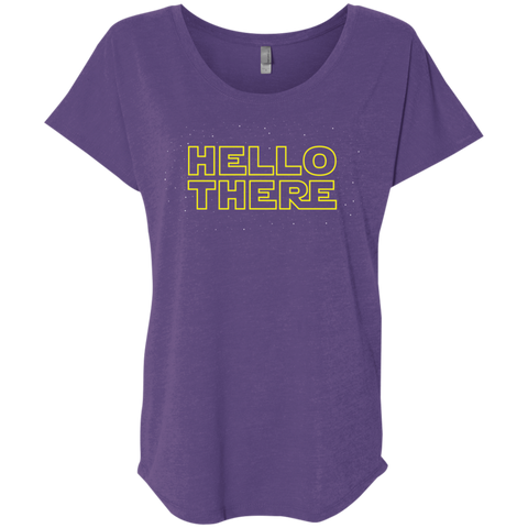 T-Shirts Purple Rush / X-Small Hello There Triblend Dolman Sleeve