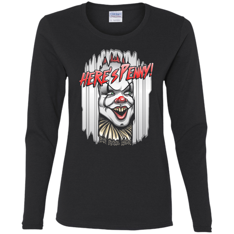 T-Shirts Black / S Heres Penny Women's Long Sleeve T-Shirt