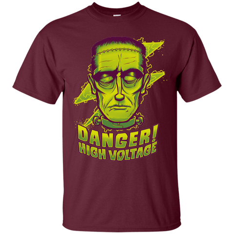 T-Shirts Maroon / Small HIGH VOLTAGE T-Shirt