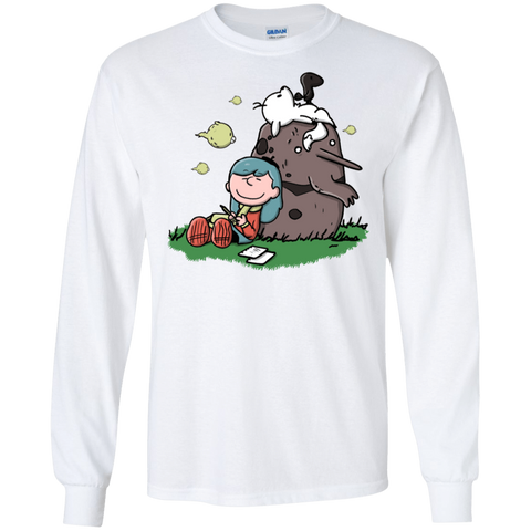 T-Shirts White / S Hilda Brown Men's Long Sleeve T-Shirt