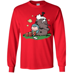 T-Shirts Red / YS Hilda Brown Youth Long Sleeve T-Shirt