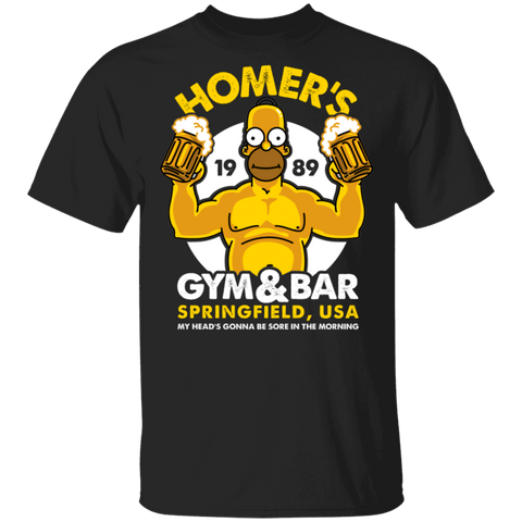 T-Shirts Black / S Homer's Gym & Bar T-Shirt