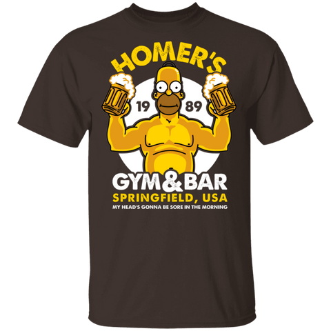 T-Shirts Dark Chocolate / S Homer's Gym & Bar T-Shirt