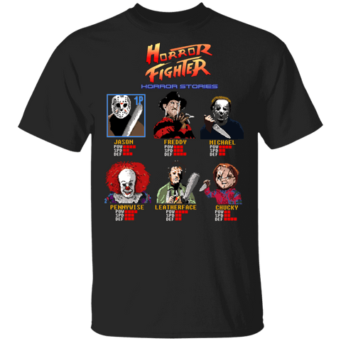 T-Shirts Black / S Horror Fighter T-Shirt