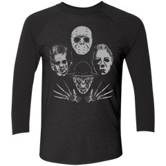 T-Shirts Vintage Black/Vintage Black / X-Small HORROR RHAPSODY 2 Men's Triblend 3/4 Sleeve