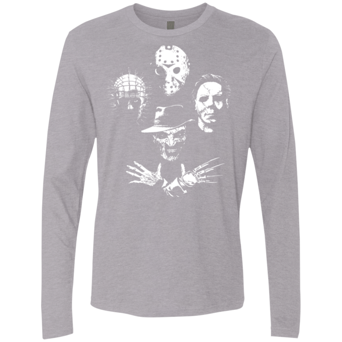 T-Shirts Heather Grey / Small Horror Rhapsody Men's Premium Long Sleeve
