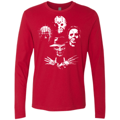T-Shirts Red / Small Horror Rhapsody Men's Premium Long Sleeve