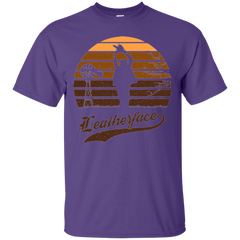 T-Shirts Purple / Small Horror Sun Set Leatherface T-Shirt