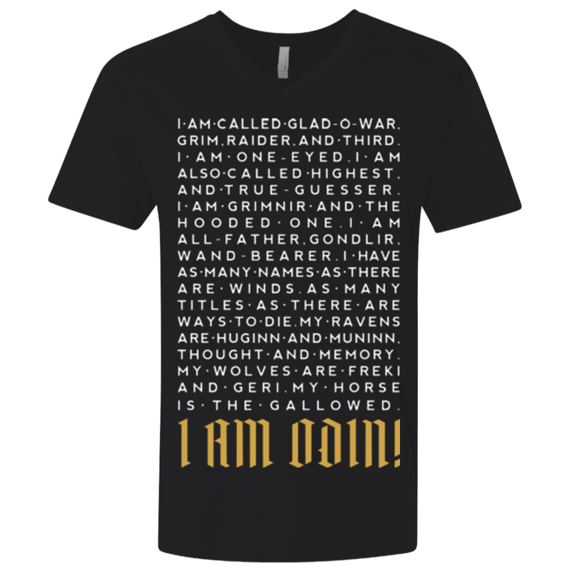 I am Odin Men's Premium V-Neck