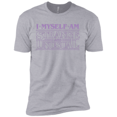 T-Shirts Heather Grey / YXS I Myself Am Strange And Unusual Boys Premium T-Shirt
