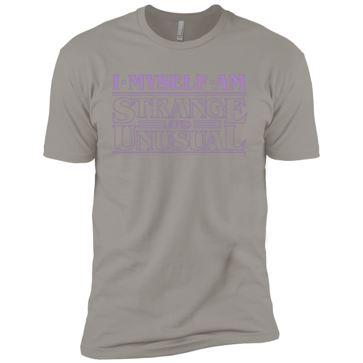 T-Shirts Light Grey / YXS I Myself Am Strange And Unusual Boys Premium T-Shirt
