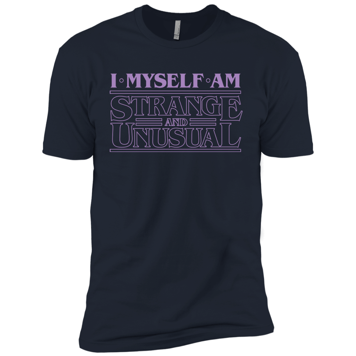 T-Shirts Midnight Navy / YXS I Myself Am Strange And Unusual Boys Premium T-Shirt