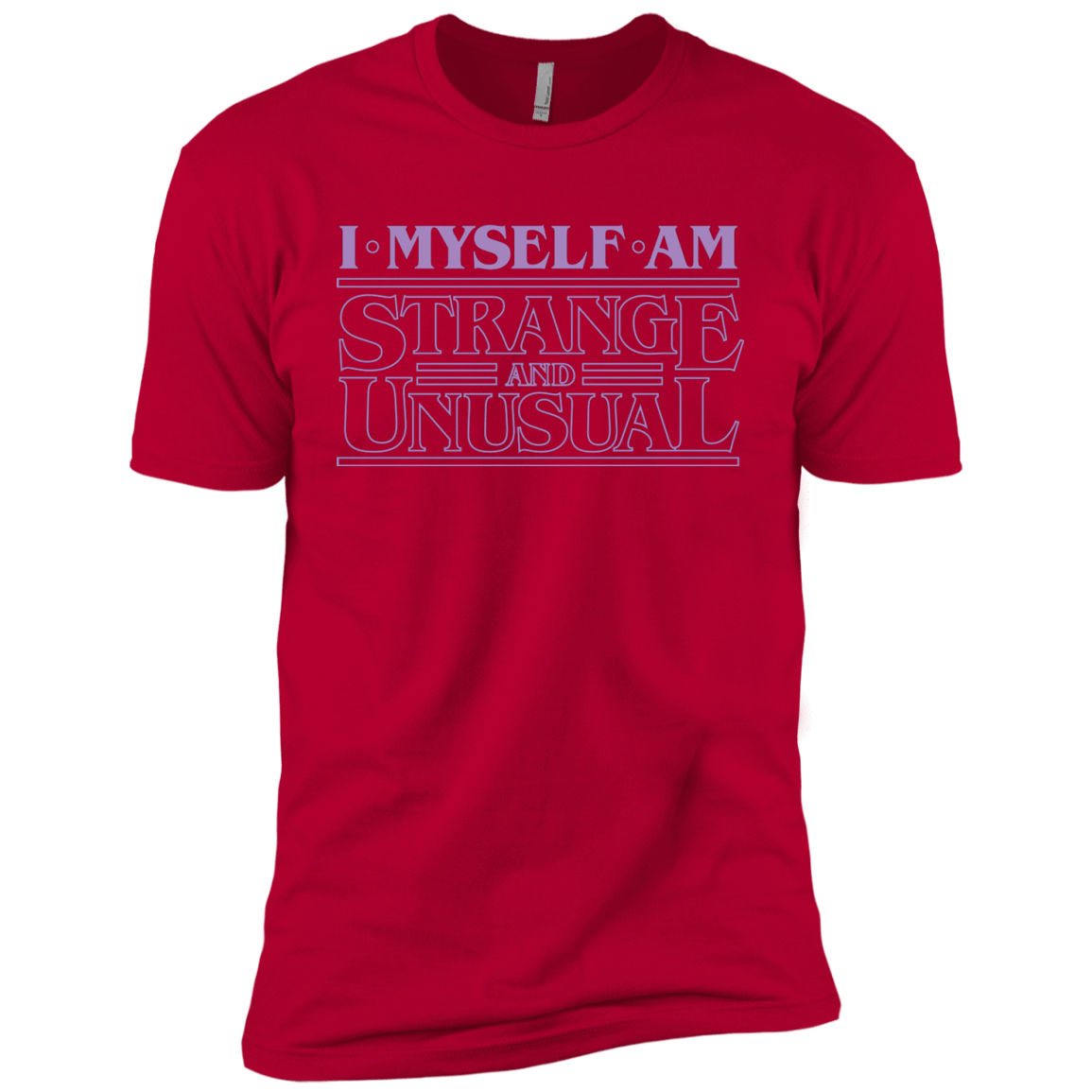 T-Shirts Red / YXS I Myself Am Strange And Unusual Boys Premium T-Shirt