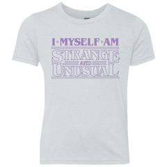 I Myself Am Strange And Unusual Youth Triblend T-Shirt